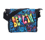 Shoulder bag Berlin Graffiti Blue L