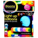 15x LED Party Luftballons - bunt