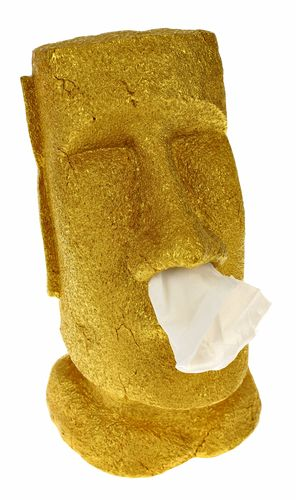 Moai Kleenex Box - Special Edition Gold