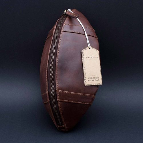 "Leather sponge bag ""American Football"""