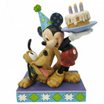 Pluto and Mickey Birthday Figur