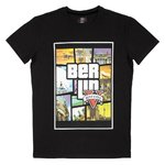 Kinder T-Shirt Grand Theft Berlin Schwarz