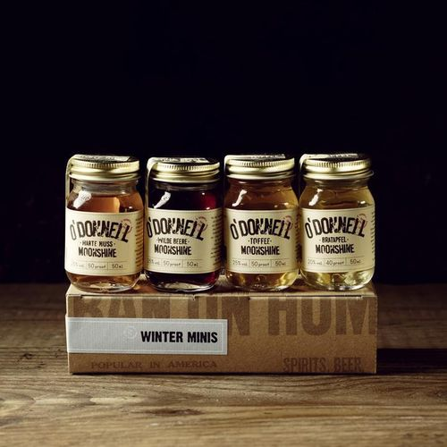 Likör Set Minis Winter Edition Jars (4x50ml) - Moonshine